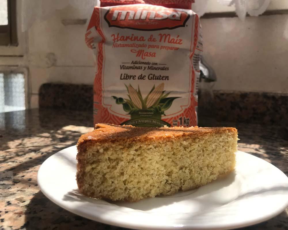 Torta de harina de maiz
